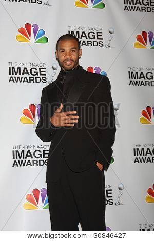 LOS ANGELES - FEB 17:  Aaron B. Spears in the Press Room of the 43rd NAACP Image Awards at the Shrine Auditorium on February 17, 2012 in Los Angeles, CA