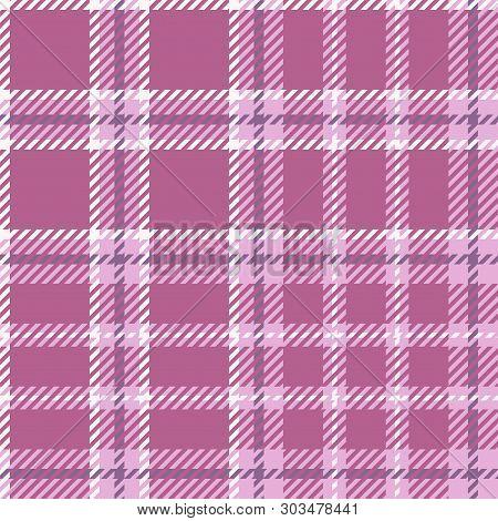 Plaid Madras Seamless Pattern.pink Tartan Textile Background