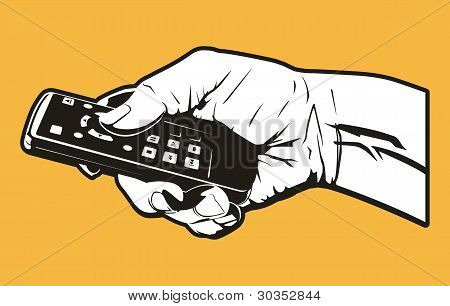 Holding the Remote Control