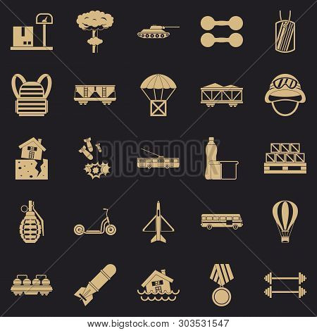 Burden Icons Set. Simple Set Of 25 Burden Vector Icons For Web For Any Design