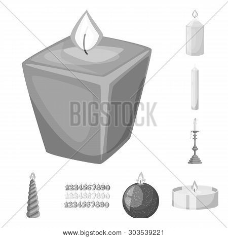 Vector Illustration Of Paraffin And Fire  Icon. Set Of Paraffin And Decoration    Vector Icon For St