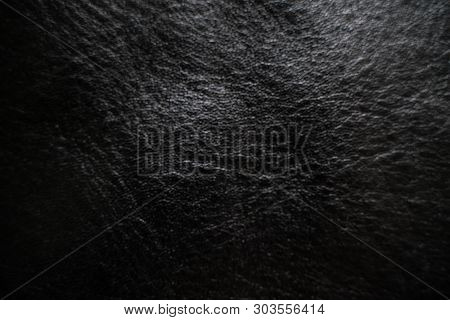 Black Genuine Cowhide Texture Luxury Art Background