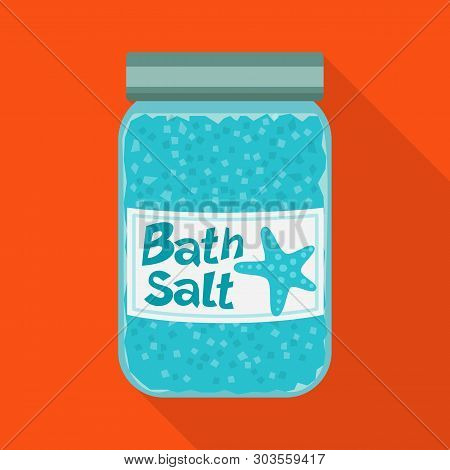 Vector Design Of Bottle  And Salty Icon. Set Of Bottle  And Spa  Stock Symbol For Web.