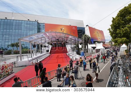 CANNES, FRANCE - MAY 20, 2019:  Atmosphere at the Palais des Festivals at the 72 st Annual International Film Festival de Cannes.