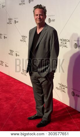 NEW YORK - APR 26: Matthew Perry attends 'The Circle' screening during the 2017 TriBeCa Film Festival at BMCC Tribeca PAC on April 26, 2017 in New York City.