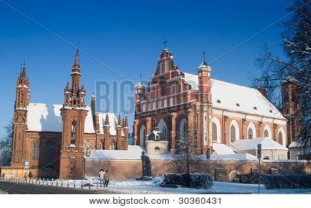 St Anne's And Bernardinu Churches In Vilnius