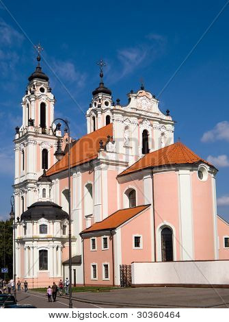 St Catherines Church In Vilnius, Lithuania