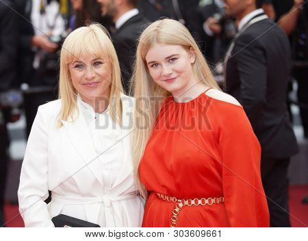 CANNES, FRANCE. May 24, 2019: Partricia Arquette & Harlow Jane-Arquette at the gala premiere for