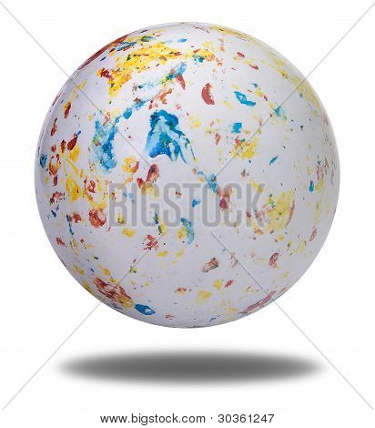 White Ball With Colorful Spots