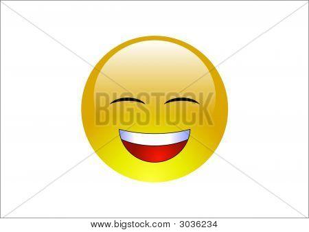 Aqua Emoticon - Laughing 2