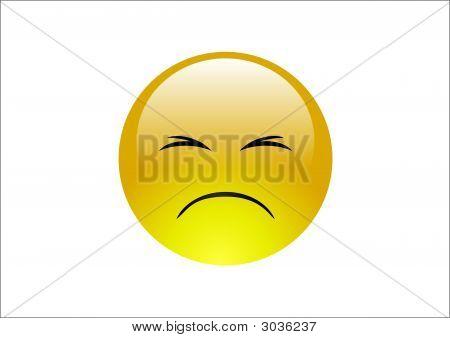 Aqua Emoticons - Sad 2