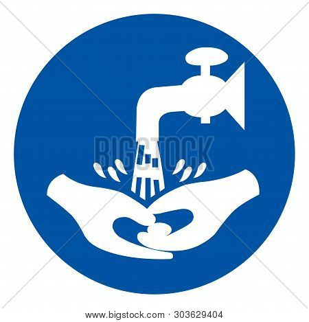 Now Wash Your Hand Please Symbol Sign,vector Illustration, Isolated On White Background Label. Eps10