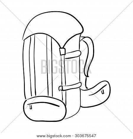 Sport Knapsack. Black Sports Bag, Vector Deportes Drawstring Knapsack, Shoes Bagful For School Garme