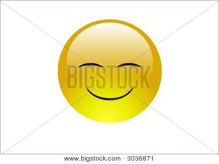 Aqua Emoticon - Warm Happy Smile