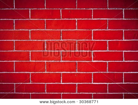 The Brick Walls Red Texture Background