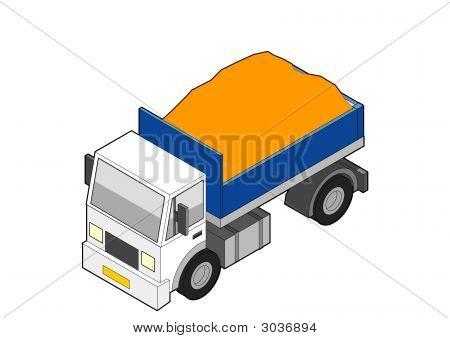 Isometric Dumper Truck - Loaded