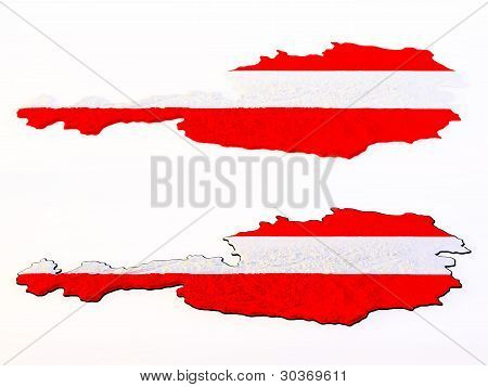 Topographic view - Flag of Austria