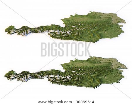 Austria - Topographic