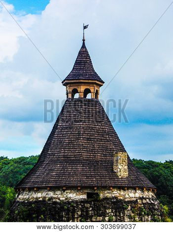 Fragment Of The Tower Of Wooden Roof
