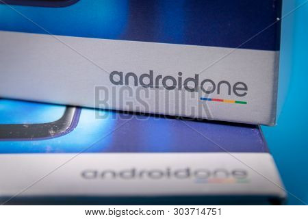 Cluj, Romania - May 13, 2019: Android One, A Version Of The Android Operating System By Google. The