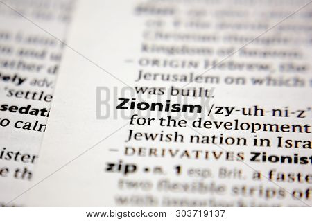 Word Or Phrase Zionism In A Dictionary.