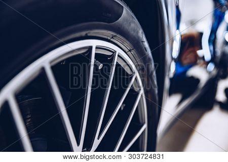 Clean Sports Car Wheel