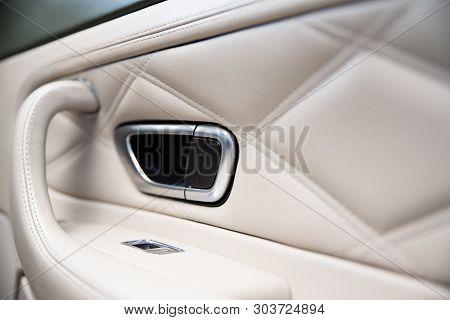 Car Door Interior Armrest And Car Window Control Panel