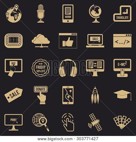 Site Building Icons Set. Simple Set Of 25 Site Building Vector Icons For Web For Any Design
