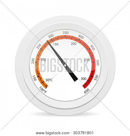 Oven thermometr icon. Cooking clipart isolated on white background