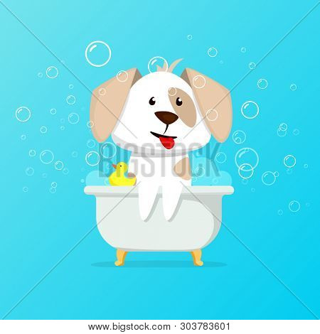 Dog grooming icon. Clipart image