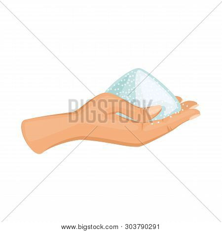Isolated Object Of Arm And Handful Sign. Collection Of Arm And Salty Stock Vector Illustration.