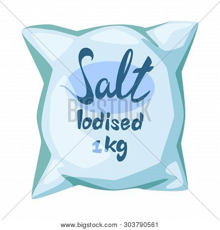 Vector Illustration Of Bag And Salty Logo. Collection Of Bag And Powder Stock Vector Illustration.