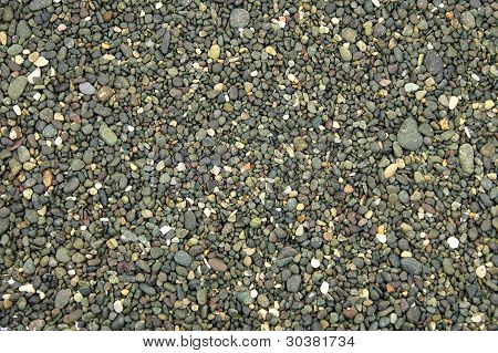 abstract of a variety of small rock background texture
