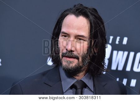 LOS ANGELES - MAY 15:  Keanu Reeves arrives for the John Wick: Chapter 3 - Parabellum' L.A. Special Screening on May 15, 2019 in Hollywood, CA