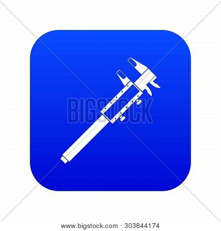 Vernier Caliper Icon Digital Blue For Any Design Isolated On White Vector Illustration