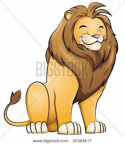 Grinsen Löwe