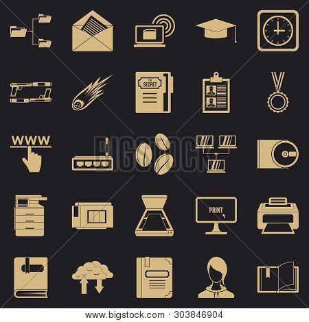 Scribe Icons Set. Simple Set Of 25 Scribe Vector Icons For Web For Any Design