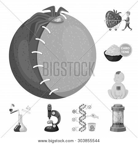 Vector Design Of Transgenic And Organic Sign. Collection Of Transgenic And Synthetic Stock Symbol Fo