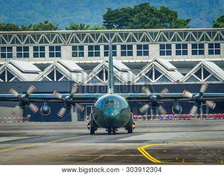 Lockheed C-130H Hercules At The Airport