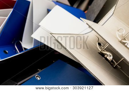 Empty Folders For Documents Thrown Out Of The Office When Moving Or At The Liquidation Of The Enterp