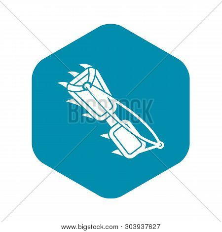 Hiking Boot Spike Icon. Simple Illustration Of Hiking Boot Spike Vector Icon For Web Design Isolated