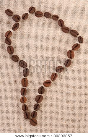 South America - Coffee Beans On Canvas
