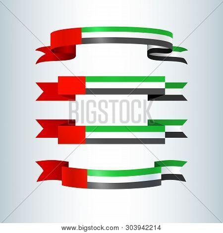 Uae Flag Ribbons Banners Ribbon Icon National Flag Of United Arab Emirates Uae For Card Banner On Ho