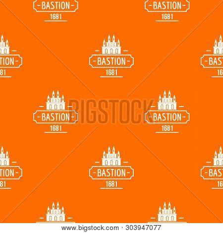 Royal Bastion Pattern Vector Orange For Any Web Design Best