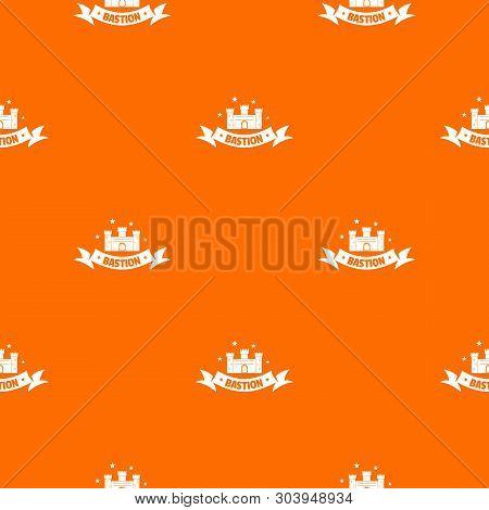 Building Bastion Pattern Vector Orange For Any Web Design Best
