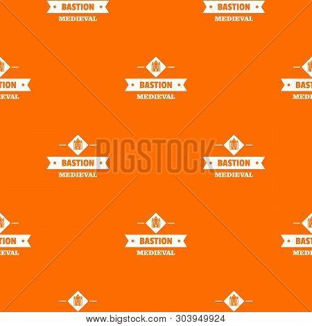 Victorian Bastion Pattern Vector Orange For Any Web Design Best