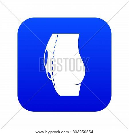 Tummy Tuck Icon Blue Vector Isolated On White Background