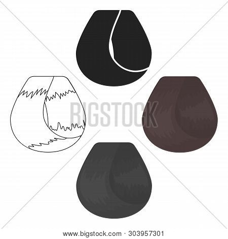 Hair Lock Icon In Cartoon, Black Style Isolated On White Background. Hairdressery Symbol Stock Vecto