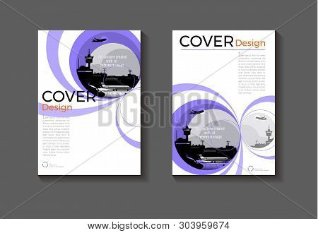 Purple Layout  Abstract Background Modern Cover Design Modern Book Cover Brochure Cover  Template,an