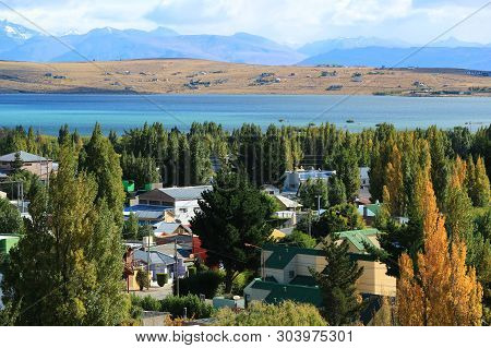Autumn Of El Calafate, The Town On The Shore Of Argentino Lake, Patagonia, Argentina, South America